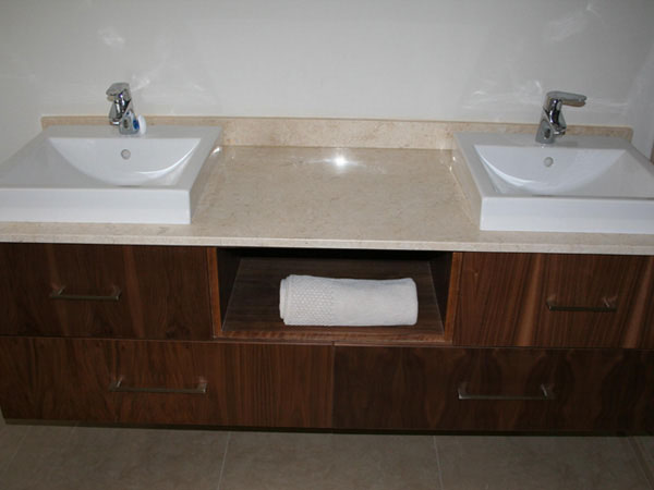 white sink basins